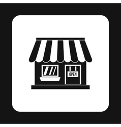 Supermarket building icon simple style vector image