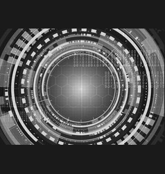 Technological future worldwide interface vector