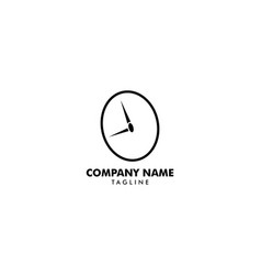 time clock logo design template vector image