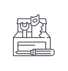 tool builder line icon concept tool builder vector image