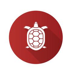 Tortoise flat design long shadow glyph icon vector