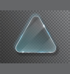 triangle glass plate isolated on transparent vector image