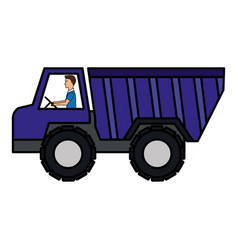truck dump isolated icon vector image