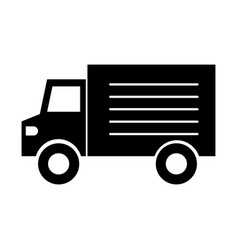 truck vehicle transport supermarket delivery icon vector image