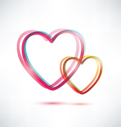 two hearts icon vector image