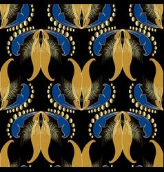 vintage floral seamless pattern ornamental vector image