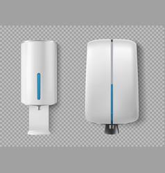 Wall dispenser for antibacterial soap antiseptic vector