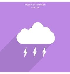weather web flat icon vector image
