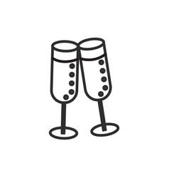cheerswine glasses line icon sign vector image vector image