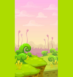 fantasy world scene vector image