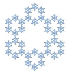Snowflake flake of snow vector