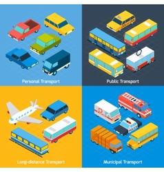 Transport Isometric Set vector image vector image