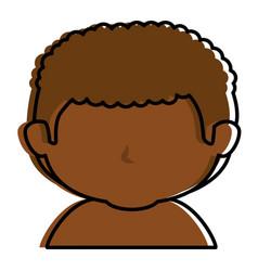 black little boy shirtless character vector image