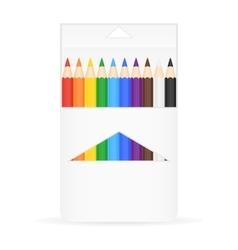 Box of Pencils vector image vector image