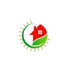 House green leaf ecology logo vector