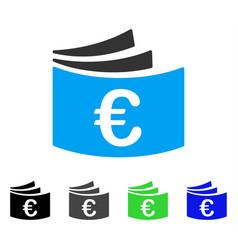 euro checkbook flat icon vector image