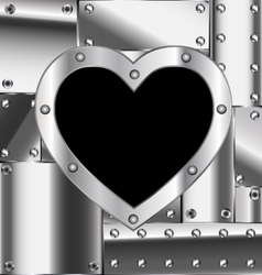 sheet of metal with heart vector image vector image