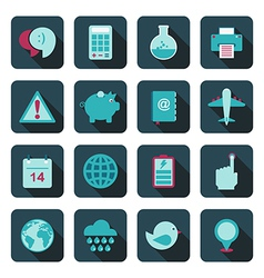 blue media icons vector image