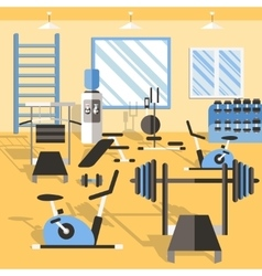 Bodybuilding Gym Poster vector image