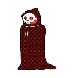 comic cartoon spooky halloween costume vector image vector image