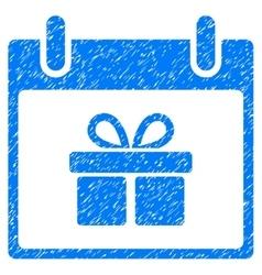 Gift Box Calendar Day Grainy Texture Icon vector image