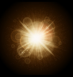 golden lights christmas vector image