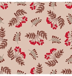 Seamless Pattern Red Berries vector image