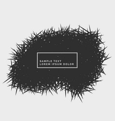 Abstract grunge spikes background vector