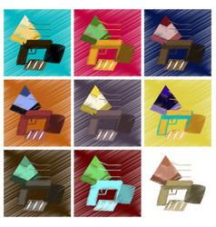 Assembly flat shading style icon economic pyramid vector