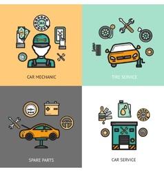 Auto Service Set vector image