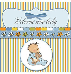 Baannouncement card with little boy vector