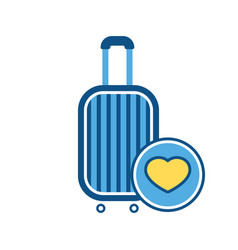 Baggage favorites sign luggage suitcase vector
