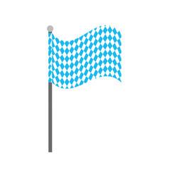 Bavarian flag oktoberfest symbol vector