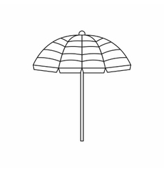 Beach umbrella icon outline style vector
