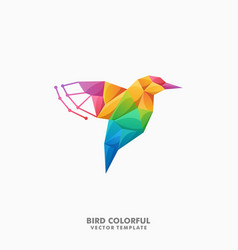 bird polygon color full concept design vector image