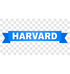 Blue stripe with harvard text vector