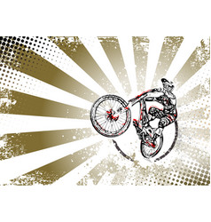 bmx poster vector image