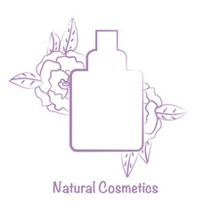 bottle for cosmetics template for cosmetic brand vector image