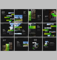 brochure layout square format covers templates vector image