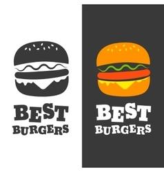 Burger emblem vector