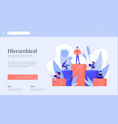 Business hierarchy concept landing page vector