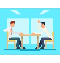 Businessmen discussing strategy flat design vector