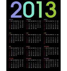 Calendar 2013 3 vector