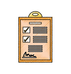Checklist document isolated vector