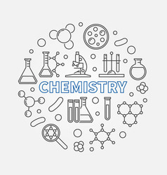 chemistry round concept science line vector image