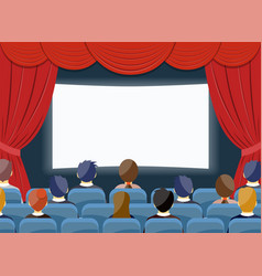 Cinema watch movie theater empty screen template vector