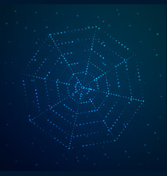 cobweb glows against the sky vector image