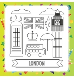 Coloring book - London vector image vector image