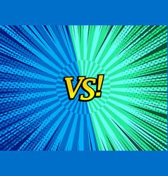 Comic versus bright concept vector