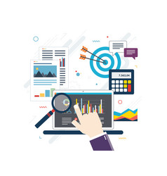 concept of financial investment analytics with vector image